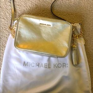 Gold Michael Kors Crossbody bag